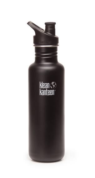 Klean Kanteen Classic Drinkfles met Sport Cap, 800 ml zwart